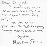 Thank you Card – Testimonial from Customer