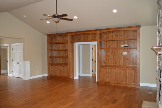 Custom Great Room Built Ins  Ranch Home