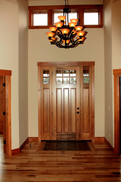 Entryway with Custom Woodwork