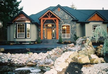 Rocky Landscaping with Bold House Materials