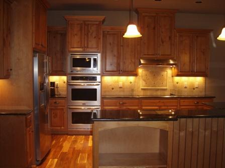 Rich Wood & Stainless Steel Kitchen