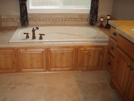 Wood Trimmed Bathtub