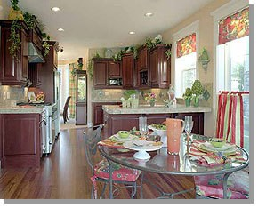 Staged Kitchen & Dining Room