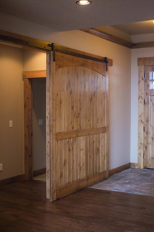 Custom Home with Interior Barn Doors