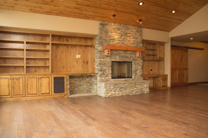 Fireplace with Custom Woodwork