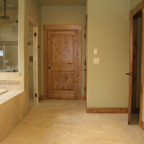 Bathroom with Custom Woodwork