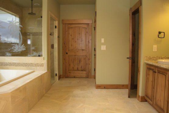 Bathroom with Custom Woodwork