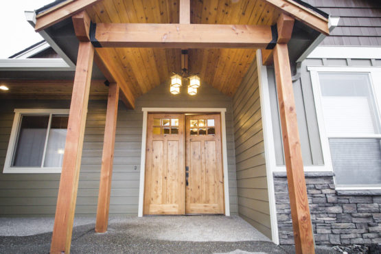 Timber Framed Entry Way