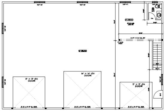 60 foot by 40 foot custom shop plans