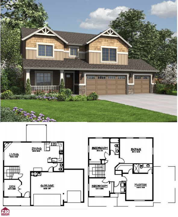 Clarkston 2030 Square Foot Custom Home Plan