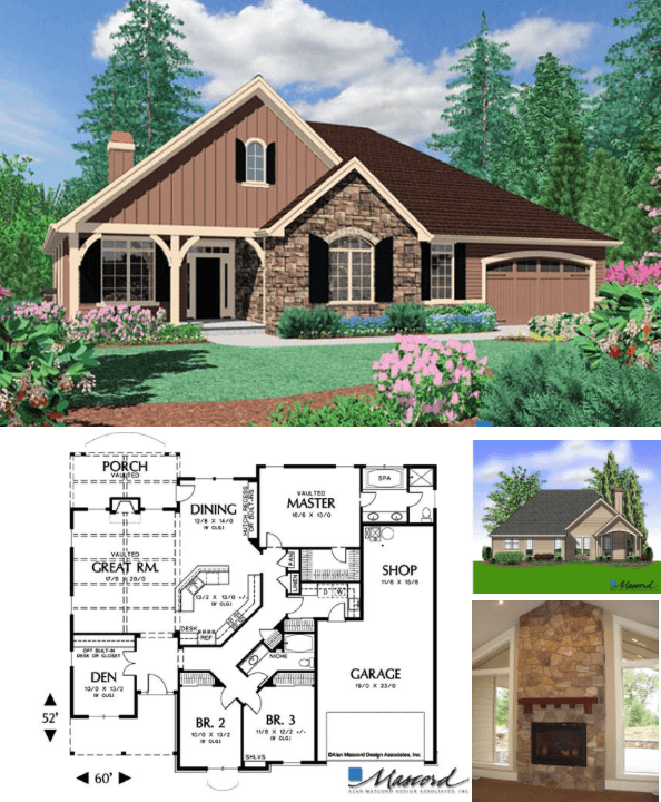 Blackburn 2000 Square Foot Custom Home House Plan
