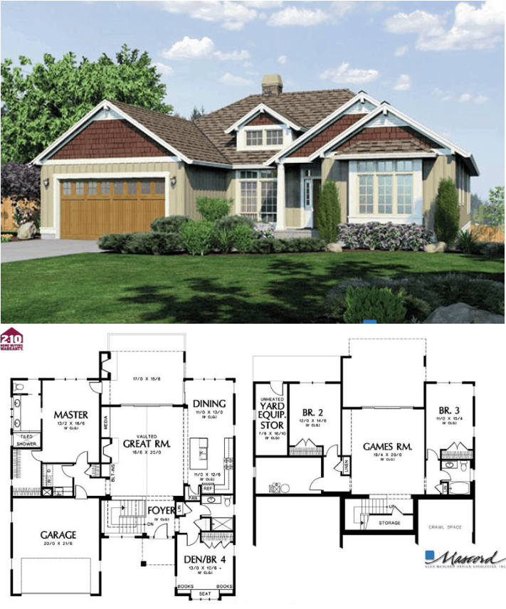 Linden 2800 Square Foot Custom Home Plan