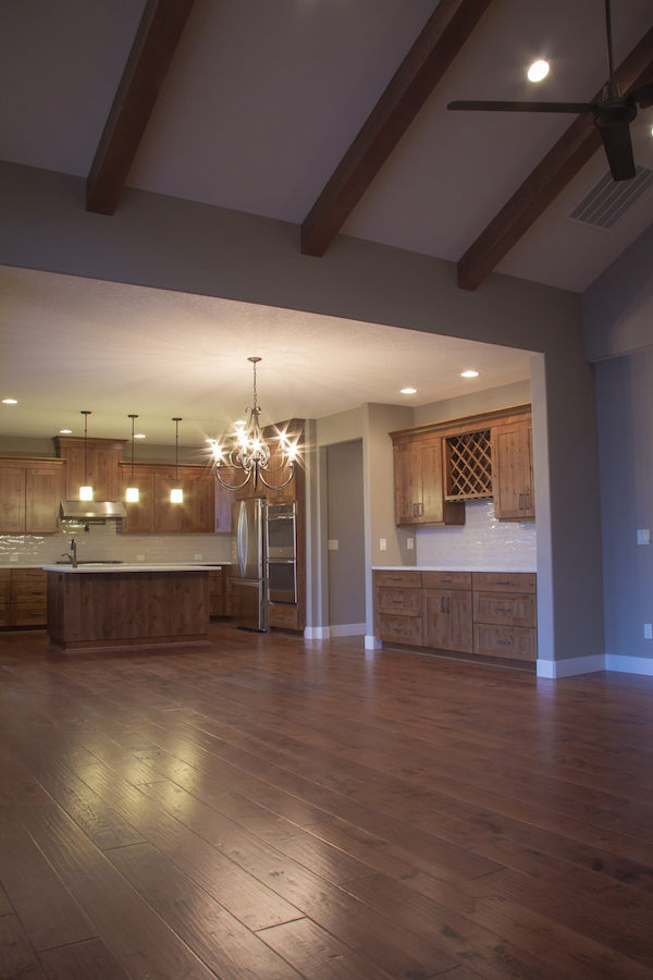 Custom Kitchen and Ceiling Beams