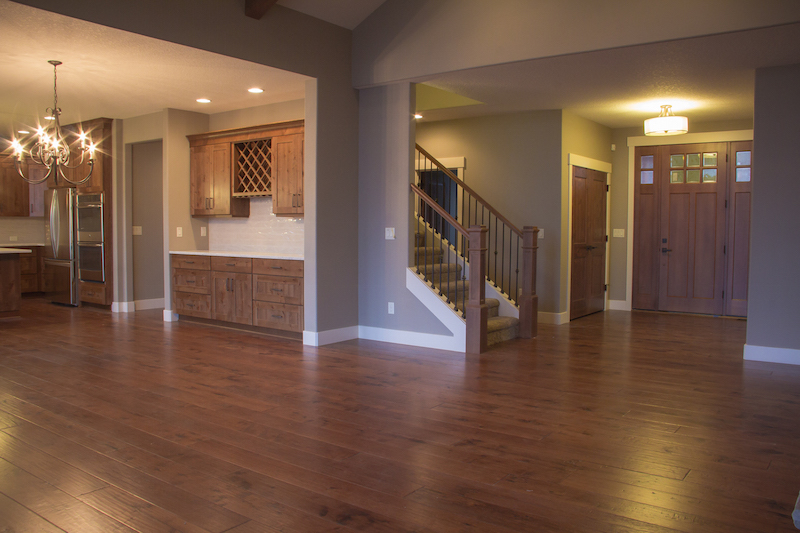 Custom Home Entry Way and Great Room