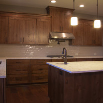Custom Home Kitchen with Island