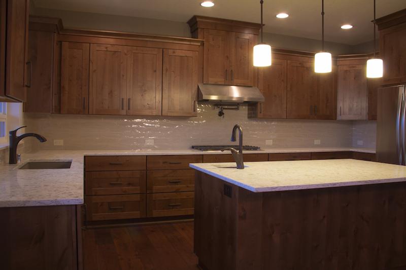 Custom Home Kitchen with Island