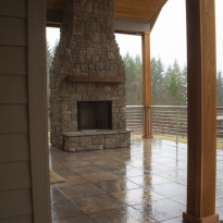 Outdoor Custom Fireplace
