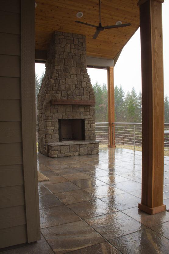 Outdoor Custom Fireplace