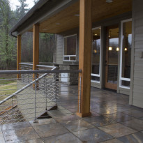 Custom Home Back Patio