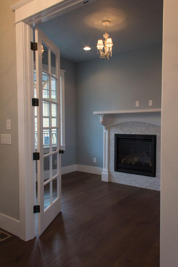 Interior Fireplace Custom Home Kalama WA