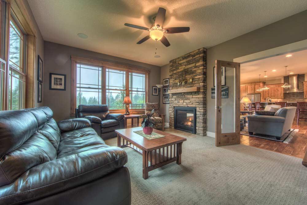 Leland Custom Home Living Room